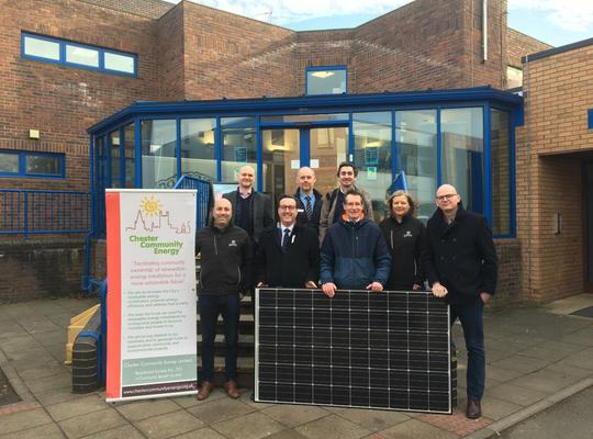 Chester Community Energy celebrates two new solar schemes