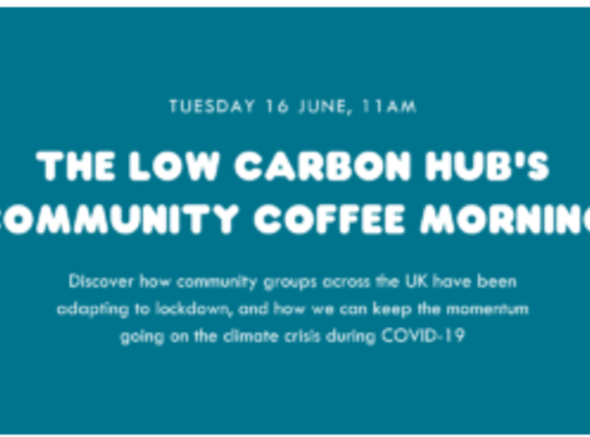 How to keep the momentum going on climate change and ensure a green recovery from COVID-19: advice and ideas from low carbon community groups across the UK