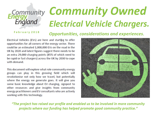 Community Owned Electrical Vehicle Chargers