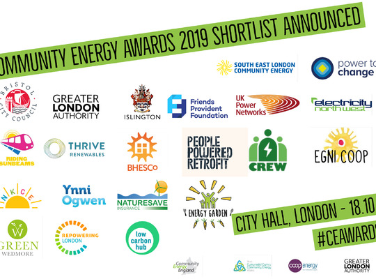Community Energy Awards Shortlist Announced